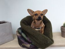 Chihuahua snuggle sack/pouch bed  fleece lined new