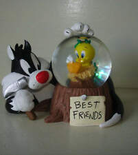 WB Warner Bros Sylvester Tweety Bird BEST FRIENDS Mini Snowglobe Figure