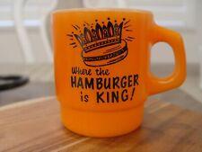 Anchor Hocking Griff'S Diner Where Hamburger Is King Advertising Coffee Mug