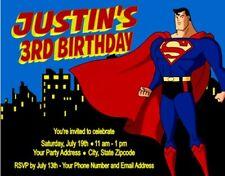Superman Birthday Party Invitations Personalized Custom