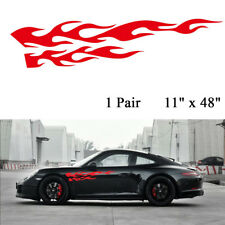1 Pair Universal Flame Pattern Graphic Car Truck Body Decal Sticker Waterproof