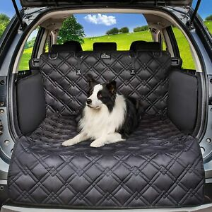 Cargo Trunk Liner Pet Dog SUV Car Seat Cover Quilted Waterproof w/ Bumper Flap