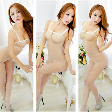 Sexy Women Fishnet Open Crotch Body Stocking Bodysuit Nightwear Lingerie Dress #