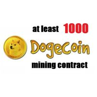 at least 1000 Dogecoins 3 hours Dogecoin (DOGE) Cryptocurrency mining contract