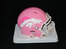 DENVER BRONCOS Officially Licensed NFL PINK SPEED MINI HELMET - New in Box