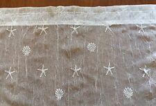 "Heritage Lace STAR FISH & SEA SHELL WHITE NETTING Valance 14""Lx52""W"