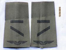 Bw-Rangschlaufen:Gefreiter UA ,Luftwaffe, schwarz/oliv