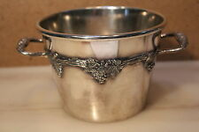 Ice Bucket silver plated ice bucket grapevine 2 Handles BMMTS Silver BM MTS