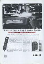 Philips MCR40 cellular Phone 1988 Magazine Advert #3924