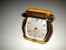 Vintage Westclock Brass Travel Alarm Clock HELPS YOU WAKE UP!!!