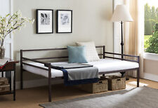 Kings Brand Modern Bronze Metal Twin Size Daybed Frame with Metal Slats Support
