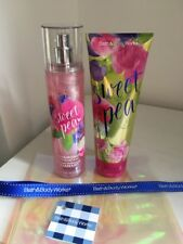 Bath And Body Works Sweet Pea Shea Body Cream & Diamond Shimmer Mist Gift Set