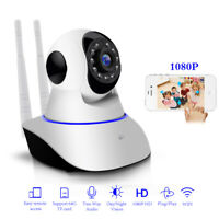 1080P HD Wireless Wifi IP Camera CCTV Home Security Baby Monitor IR Cam Pan/Tilt