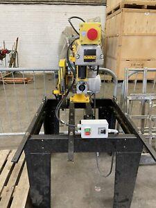 Dewalt Radial Arm Saw Dw729 3 Phase Cross Cut Great Condition DW 729
