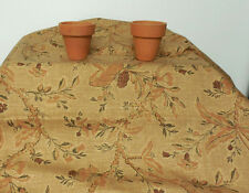 Terracotta Brown Floral Cotton Screen Print Drapery Waverly Fabric By The Yard