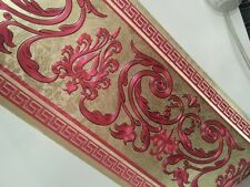 wunderschöne Barock Bordüre Gold.Rot  ,VERSAC  5m lang 17,7 cm breit