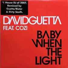 "DAVID GUETTA FT COZI - Baby When The Light (12"") (VG+/VG+)"