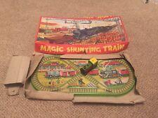 Vintage Magic Shunting Train Tin Plate Clockwork Train  Rare