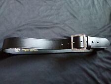 Boston Leather Garrison Black Leather Belt size 36 Silver buckle