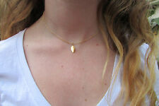 Goldfill Pretty Necklace All Length Available Gold Choker with Leaf Charm Dainty