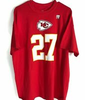 Majestic NFL Kansas City Chiefs 27 Kareem Hunt TShirt Mens Size XL Red