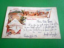 Cartolina Ricordo di Pompei - Anfiteatro e Tempio di Giove 1897