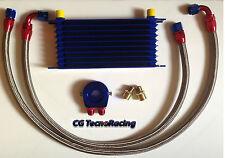 Kit radiatore olio auto Universale racing 10 file oil cooler kit car racing 10R
