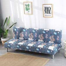 """Stretch Fold Sofa Cover Futon Slipcover Armless for 61-77"""" Length Sofa Bed"""