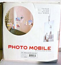 Hanging Photo Mobile Sculpture Stainless Steel Clips NIB Kikkerland 20 Photos
