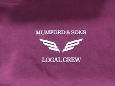 Mumford & Sons 2019 Local Crew T Shirt Wine XL