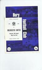 Past Domestic Leagues Teams A-B Bury Football Programmes