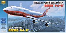 Boeing 747-8 jumbo-jet Intercontinental avión (Boeing marcas) 1/144 Zvezda