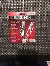 Swiss+Tech Micro-Slim Flat Wrench Keychain Multitool Pry Tool