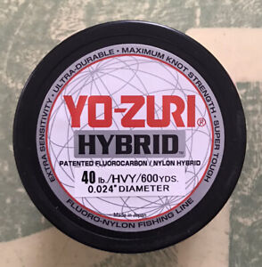 Yo-zuri Hybrid Flurocarbon Fishing Line 40lb Hivis Yellow 600yd