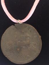 """Sestertius Of Nero Roman Coin WC29  Made From Pewter On 18"""" Pink Cord Necklace"""