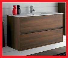 mobile da bagno arredo lavandino sospeso 100 cm in legno con cassetti moderno