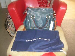 Gorgeous Dooney & Bourke Florentine Denim Blue Small Satchel Hand Bag