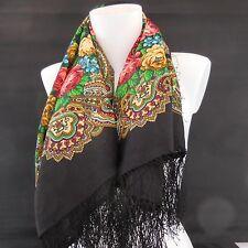 Carré foulard écharpe châle en laine de style art nouveau made in Russia