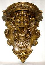 "15"" Gargoyle Pan Protector Mythical Shelf Sconce Bracket Wall Decor Bronze Finis"