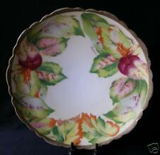 """Stunning Antique O&Eg Royal Austria Hand Painted Fall Leaves Plate-Signed 10"""""""