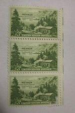 $0.03 Cents Nevada First Settlement Centennial 1931-1951 Stamp Plate Block of 3
