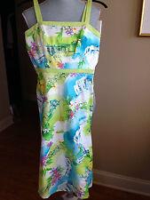 K Petites Shirt Dress Size 4P White Geometric sleeveless Cotton Blend D126