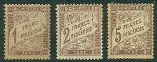 FRANCE #J26-8 Complete set, og lightly toned, hinged, quite scarce, F/VF,
