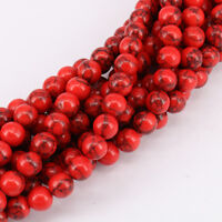 Wholesale Natural Red Turquoise Round Spacer Loose Beads 4mm 6mm 8mm 10mm 12mm
