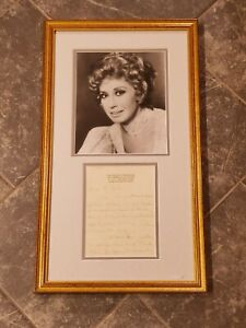 Beverly Sills Signed Photo Handwritten Letter Framed Autographed 12.75×22 (CR)