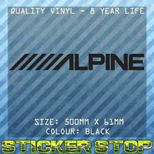 ALPINE VINYL STICKER (50cm, BLACK) AUDIO DECAL, CAR, WINDOW