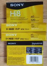 4 Sony Hi8 Digital 8 Video Cassette Tapes New / Factory Sealed
