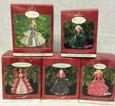 Vintage Hallmark Collector's Holiday Barbies Keepsake Ornaments Lot of 5