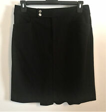 WOMENS CHAPS BLACK PENCIL SKIRT WITH BACK KICK PLEAT, WITH STRETCH, SIZE 12