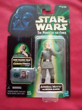 STAR WARS THE POWER OF THE FORCE ADMIRAL MOTTI WITH IMPERIAL BLASTER COMMTECH